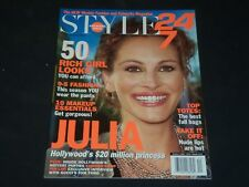 2001 OCT 2 STYLE 24/7 MAGAZINE - JULIA ROBERTS COVER - PREMIERE ISSUE - O 8406