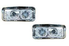 Kenworth W900 T800 T600 LED PROJECTOR HEADLIGHT HALO | Chrome | Pair | LH+RH