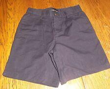 Sz 4 Claiborne Boys Uniform Shorts Navy Blue Linen Blend