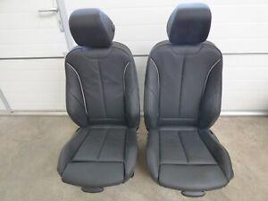 BMW 3er F30 F31 Sport Sitze Sitz Leder Dakota schwarz Akz.Oyster Dunkel LCL8