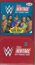 2017 Topps WWE Heritage Wrestling Trading Cards New 36pk Gravity Feed Box