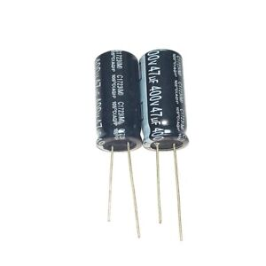 5PCS 400V 47uF 400Volt 47MFD Electrolytic Capacitor 13×25mm Radial