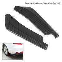 2x Universal Auto SUV Anti-Scratch Carbon Hinterteil Heckschürze Diffusor Set #