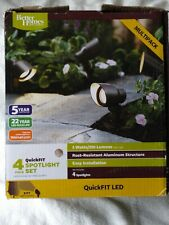 Better Homes and Gardens 4-Piece Set QuickFIT LED Spotlight Landscape Metal