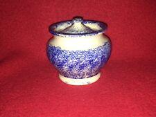 Staffordshire Blue Spatter Spatterware Miniature Sugar Bowl Ca. 1830