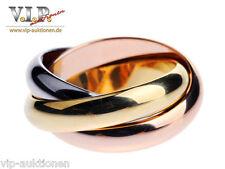 Cartier Trinity bague XL Edition anillo talla 51 goldring 18k/750 tricolor oro Rare
