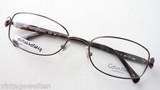 Calvin Klein Metallfassung Kunststoffbügel Designerbrille braun Damen Grösse M.
