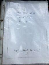 IH tractor workshop manual 84 Series International Harvester.
