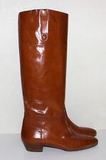 BALLY vintage Lauren calf cognac leather boots 8 M worn