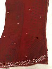 Gorgeous Cherry BandhaniSaree Ready To Wear Handmade Saree Gota Blouse DEAL !!