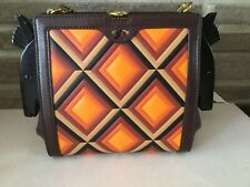 Tory Burch Horse Frame Leather Clutch Cross Body Bag Purse Rare New Collectible