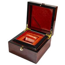 Premium Wooden Watch Box Single Gird Display Collection Storage Organizer