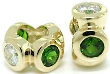 Whiz Diopside 9K 9ct Solid Gold Bead Charm FITS EURO BRACELETS 30 Day Return
