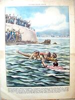 1939 ILLUSTRAZIONE DEL POPOLO COPERTINA SALVATAGGIO A VERBANIA INTRA SUL LAGO