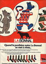 publicité advertising   1976   LA BONNAL  chaussettes la panthère noire