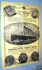 Vintage RMS TITANIC Antique Old Leaflet Poster Perfume Retro Advertisement Ship