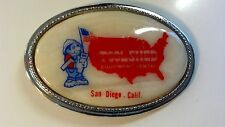 "Vintage Belt Buckle ""Toolshed Equipment Rental"" San Diego, California"