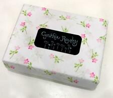 Cynthia Rowley Pink Flower Pastel Watercolor Floral Full Sheet Set NEW