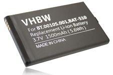 Batteria 1500mAh 3.7V Li-Ion per Acer Liquid Metal MT, S120