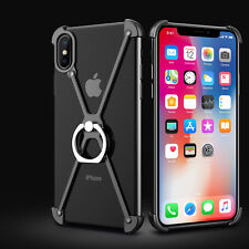 Ring Grip Finger Kickstand Metal X-Shape Frame Bumper For iPhone 5/6/7/8 Plus XS