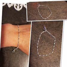 Bracelet De Qualité Perles Résine Blanches Argent Acier Ref Gigi 2 Promo
