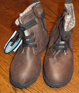 Girls Sz 9 Toddler Fashion Boots Brown w/Floral Tongue Zipper Boots with Decorat