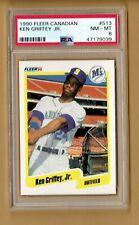 1990  Fleer CANADIAN   Ken Griffey Jr.  #513  Psa 8