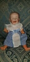 "RARE ANTIQUE GEBRUDER HEUBACH 7684 SCREAMER 8"" bisque head COMPOSITION BABY DOLL"