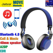 Jabra MOVE Wireless Bluetooth Stereo Headset Supraaural Headphones Blue