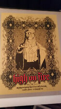 High On Fire print poster Brian Mercer signed Richmond Mono Sleep Matt Pike Om