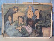 Dembinski-Rawicz.Ghetto.Pologne Ecole de Paris 28x19cm.Encre et aquarelle.