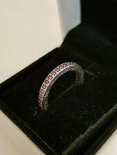 New Genuine Pandora Eternity Fancy Purple Ring #190618CFP. Sizes 52 & 54