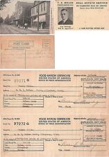 VINTAGE AMERICANA, LETTERS, RATION CERTIFICATES AND POST CARDS ALLEGHENY PA.