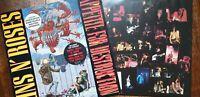 """GUNS N' ROSES, """"APPETITE FOR DESTRUCTION"""". MEGA RARE UK VINYL LP + BANNED COVER"""