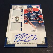2012-13 Rookie Anthology Philippe Cornet Auto Dual Patch Card /99 Oilers Rc