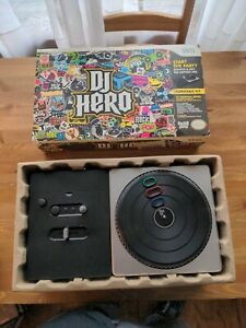 DJ Hero Nintendo Wii Turntable Controller With Original Box CIB! Complete w/Game