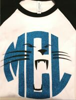 Panther Face Monogram Raglan Sleeve T-Shirt