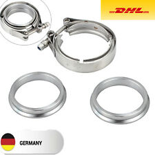 """V Band Schelle mit Anschweißringe Set 2,5"""" 63,5 mm Vr6 16V G60 S2 1,8T Turbo DE"""