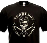 Tee Shirt TEDDY BOY ROCK'N'ROLL Flying Saucers Crazy Cavan Matchbox Riot rockers