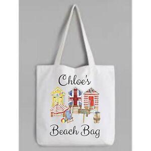 Personalised Tote Bag beach hut  holiday   reusable gift shopping