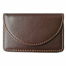 KINGFOM Leather Business Name Card Case Wallet Holder with Magnetic Shut Brown