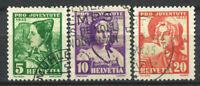 Switzerland 1935 Mi. 287-289 Used 100% Pro Juventute, Women.