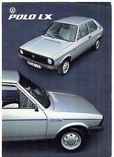 Volkswagen Polo LX Mk1 Limited Edition 1981-82 UK Market Sales Brochure Formel E