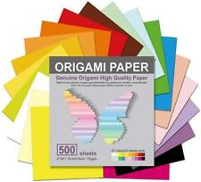 Origami Paper 500 Sheets 20 Vivid Colors Double Sided Colors Make Colorful
