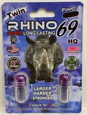 Energy Supplement for Men RHINO 69 - Natural and Original- Pack of 5- R H I N O