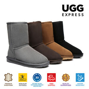 【EXTRA20%OFF】UGG Boots Short Classic Unisex Boots Double Face Sheepskin