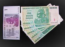 6 Zimbabwe Banknotes-5 x 1 Billion Dollars + 1 Dollar-currency