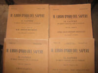 IL LIBRO D' ORO DEL SAPERE 4 volumi Casa Ed. Vallardi