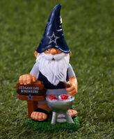 NEW Kansas Jayhawks Fan on Bench Garden Gnome NCAA Figure Figurine Lawn Yard