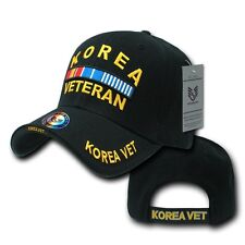 Black Korea Korean War Veteran Vet Military Adjustable Baseball Ball Cap Hat